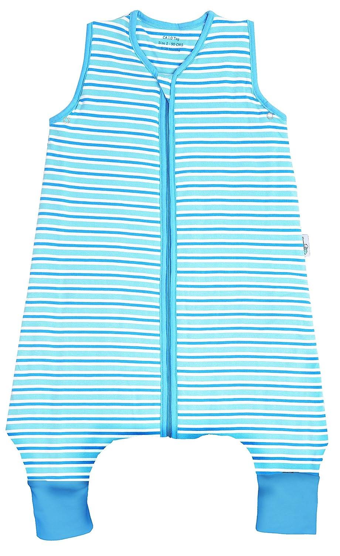 Slumbersac - Saco de dormir de invierno con rayas para pies aprox. 3,5 Tog - Azul Bebé disponible en 5 tamaños Talla:12-18 meses: Amazon.es: Bebé