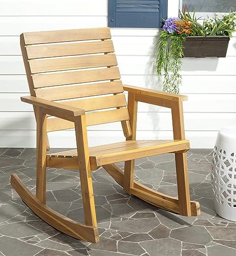 Safavieh Outdoor Collection Alexei Ash Grey Rocking Chair