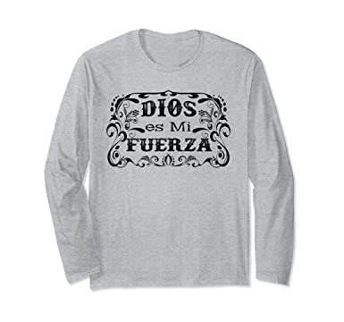 Unisex Camisas Cristianas de manga larga sobre Dios Small Heather Grey