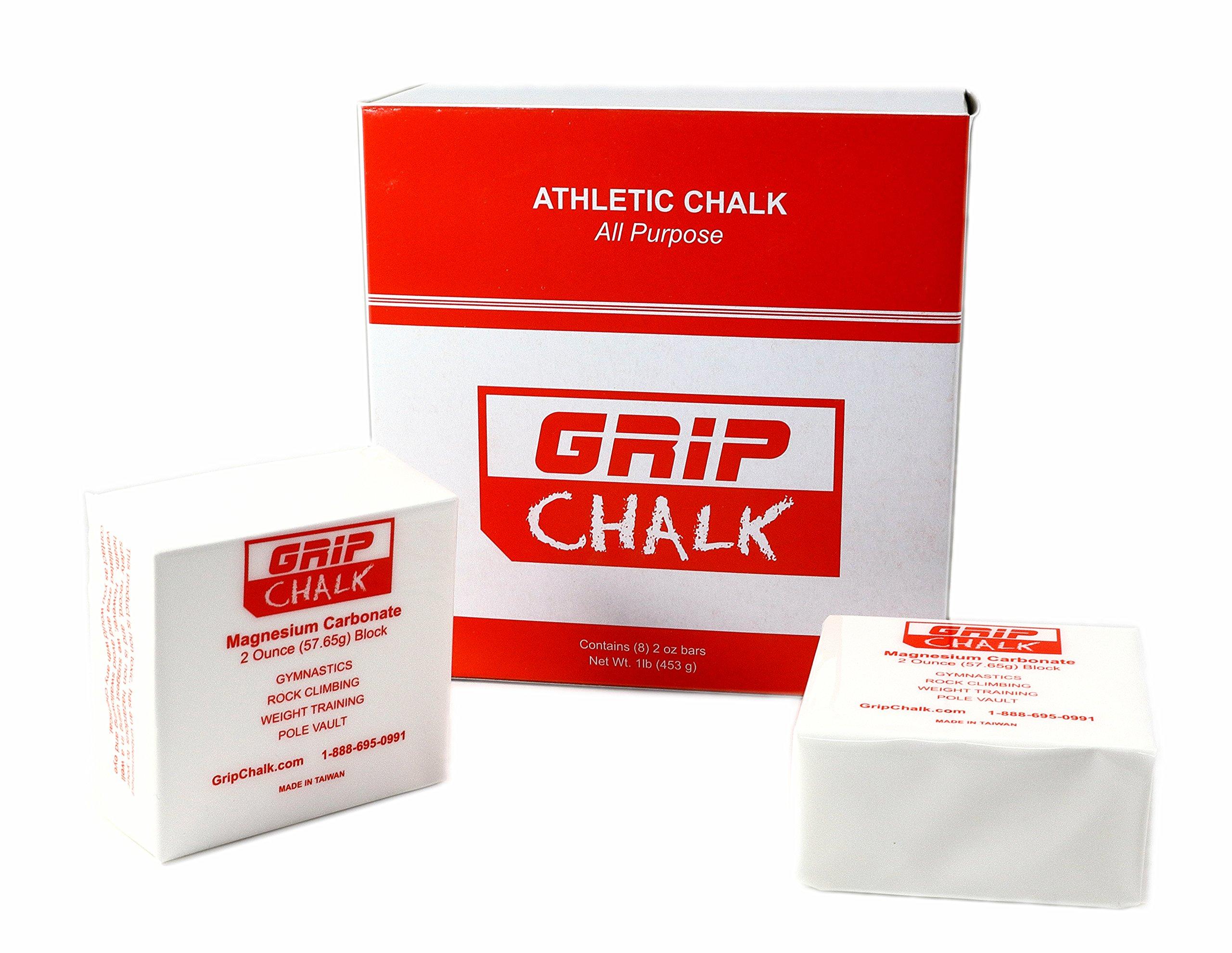 Gym Chalk Gymnastics, Rock Climbing, Power Lifting, Crossfit No Slip, No Moisture Chalk 1lb