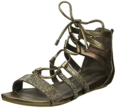 3cd30c992a1c Kenneth Cole Reaction Women s 7 Lost Look Gladiator Laceup Sandal ...