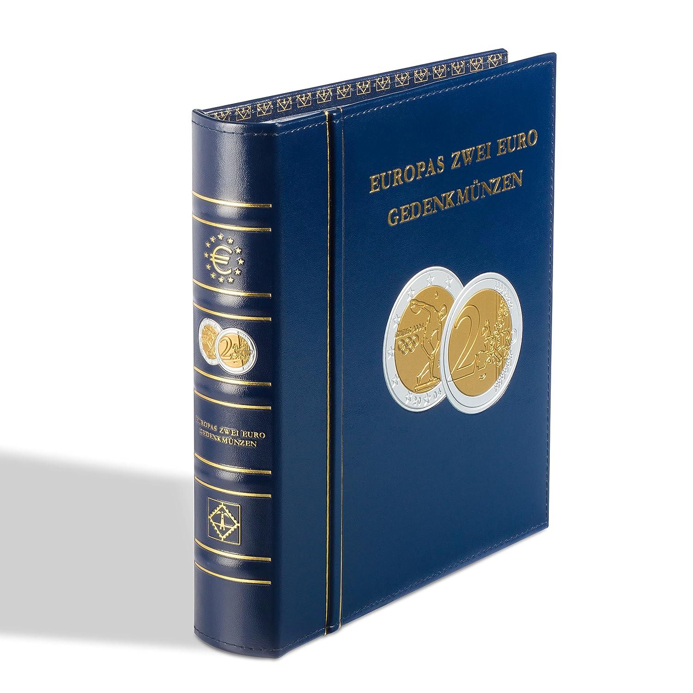 Coin Album Classic-OPTIMA European 2-Euro commermomative coins, incl. slipcase, blu