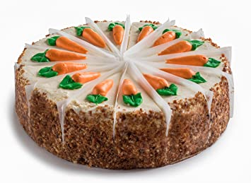 David S Cookies Gourmet Layered And Sliced 10 Carrot Cake With Cream Cheese Icing