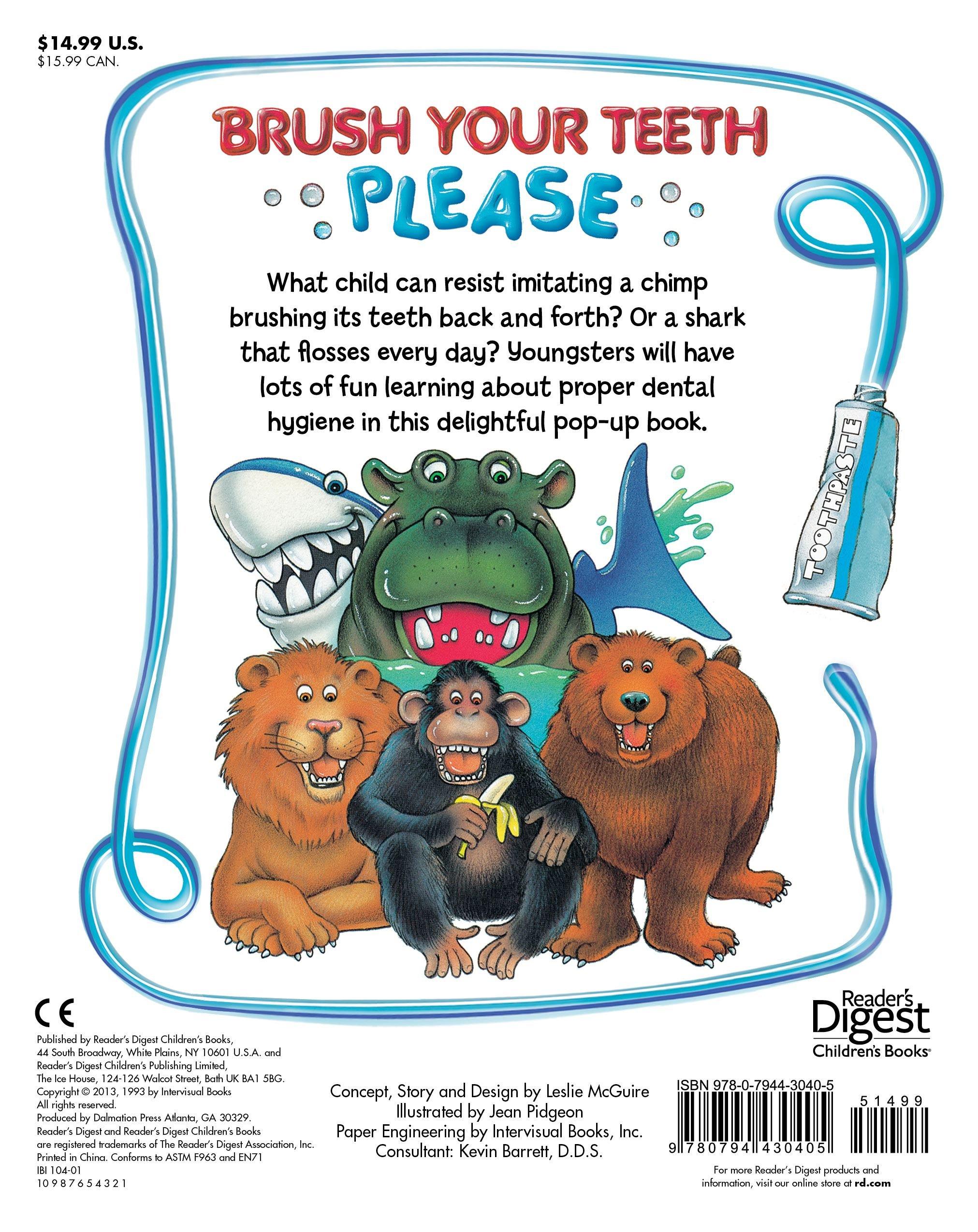 Amazon Com Brush Your Teeth Please A Pop Up Book 9780794430405