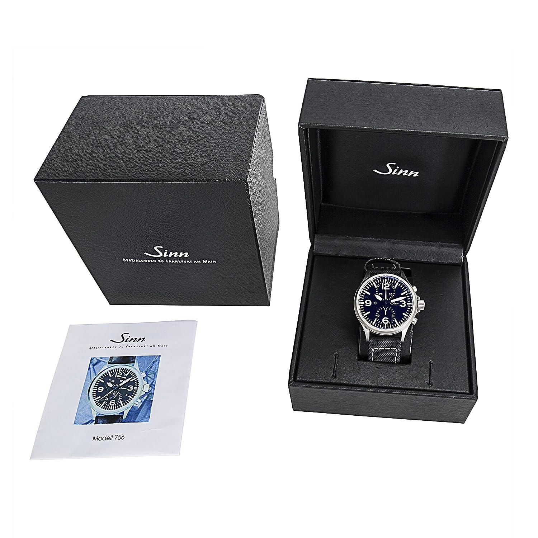 Sinn duochronograph 756 Reloj para hombres en acero tegimented (Certificado) de segunda mano: Sinn: Amazon.es: Relojes
