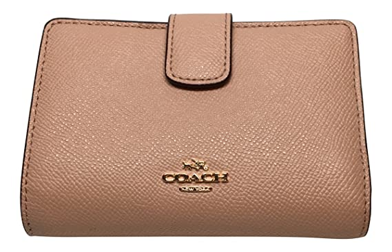 fde7cbee1e ... womens d22aa ca726  ireland coach crossgrain leather medium corner zip  wallet f54010 nude pink 58d4d 48a99
