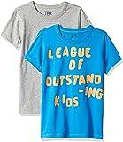 Marca Amazon / J. Crew - LOOK by crewcuts Camiseta de manga corta para niño, estampado/liso (2 unidades)