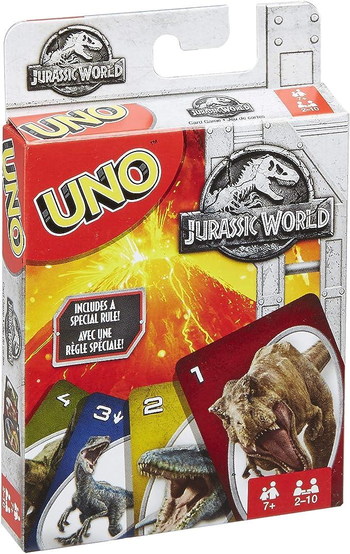Mattel Games UNO Jurassic World, juego de cartas (Mattel FLK66): Amazon.es: Juguetes y juegos