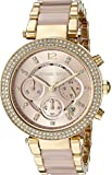 Michael Kors Womens Parker Blush Acetate and Goldtone Chronograph Watch