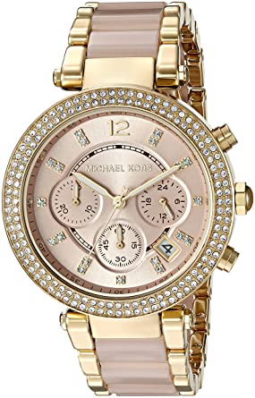 aca6f6dbb7d Amazon.com  Michael Kors Women s Parker Gold-Tone Watch MK6326  Watches