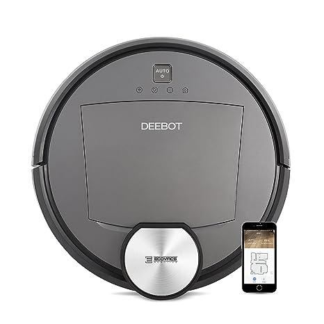 Ecovacs Deebot R95 Robot limpiasuelos con navegación inteligente y aplicación 56 Decibeles, negro