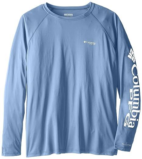 Columbia Sportswear Big and Tall Terminal Tackle Long Sleeve Shirt, White Cap/White Logo