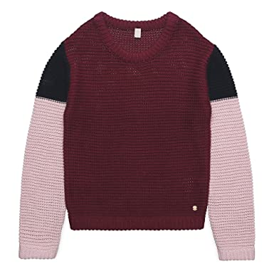 d2891d266a ESPRIT KIDS Mädchen Pullover RK18015, Rot (Bordeaux 390), 152  (Herstellergröße: