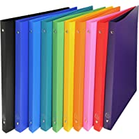 Exacompta Opaque PP Flexible Covers Ring Binder, A4, 2 Rings, 20mm Spine - Assorted Colours, Pack of 10