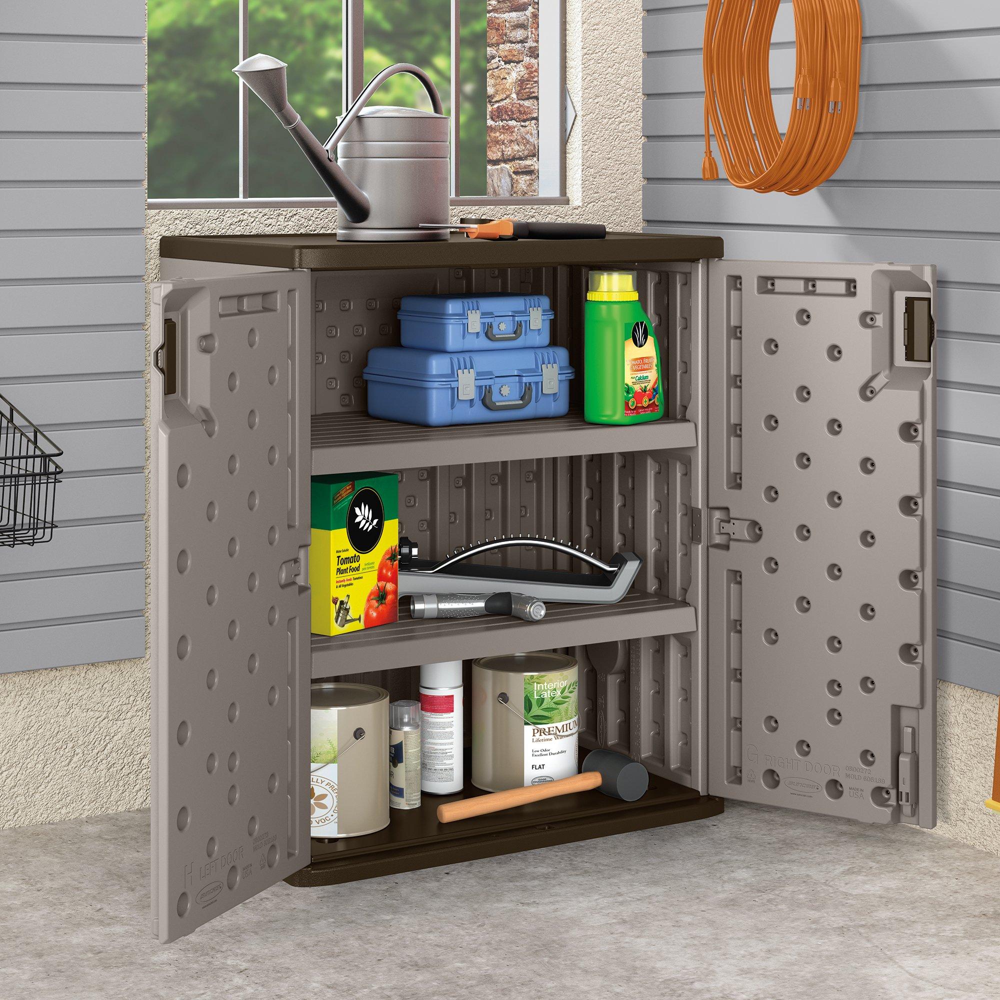 Suncast Base Storage Cabinet, Platinum