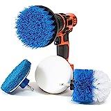 RevoClean - Juego de 4 cepillos de Limpieza para Taladro eléctrico Multiusos, Perfecto para Limpiar lechada, Azulejos…