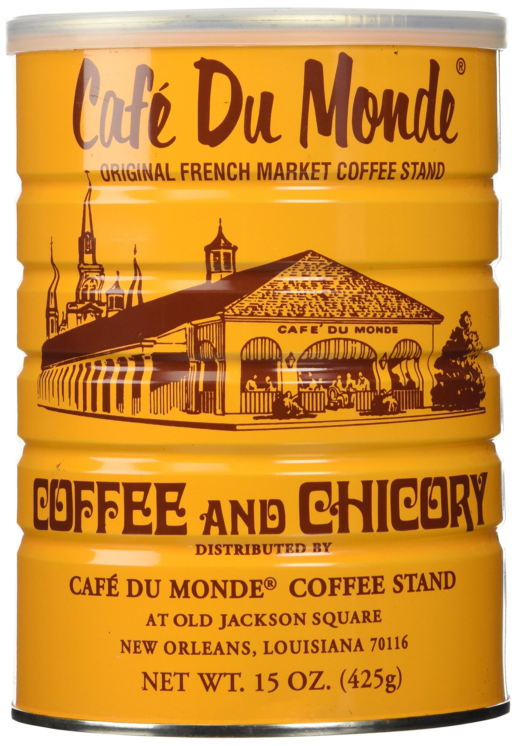 Half a Dozen Cans (6 Cans) of Coffee Du Monde - 15 oz. cans by Cafe Du Monde