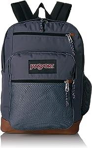 JanSport Huntington Backpack - Lightweight 15 Inch Laptop Bag, Deep Grey