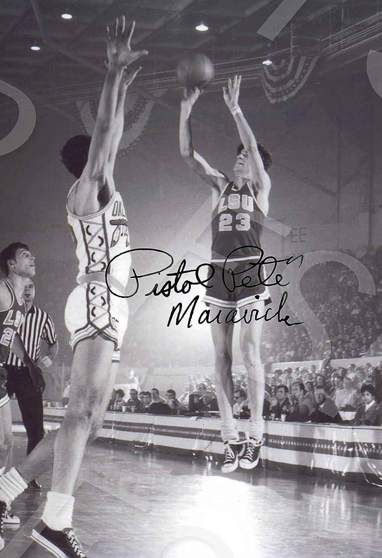 LSU Tigers Pete Maravich Autograph Replica Poster Print