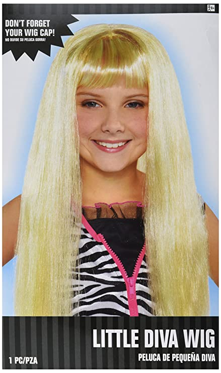 Amscan Little Diva Wig-Child Costume Accessories