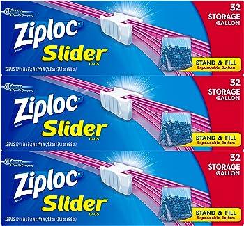 288-Count (3 x 96-Count) Ziploc Slider Gallon Size Storage Bags