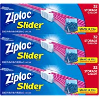 Ziploc Gallon Slider Storage Bags, 96 Count