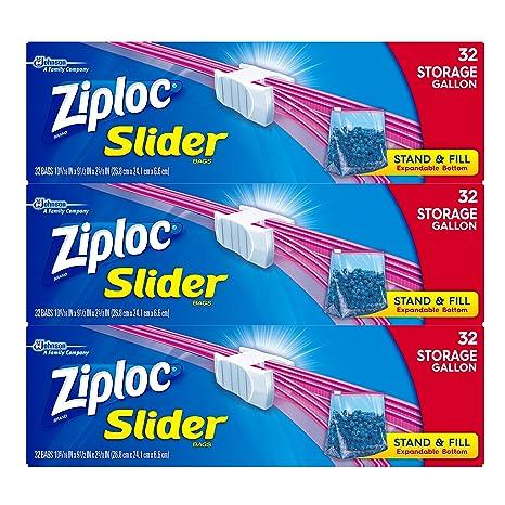 Ziploc - Bolsas de almacenamiento deslizantes: Amazon.es ...