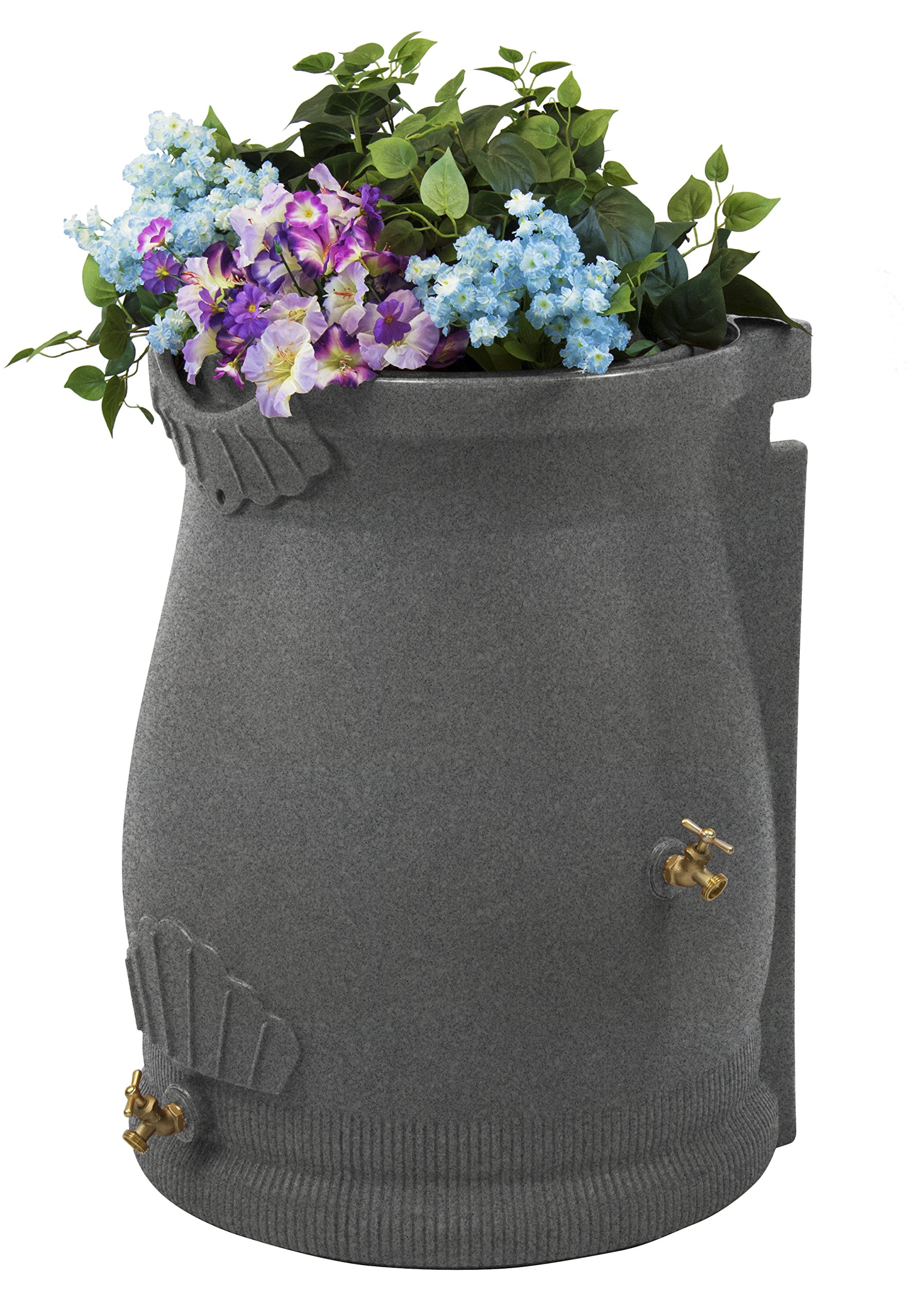 Good Ideas RWURN50-LIG Rain Wizard Rain Barrel Urn, 50 gallon, Light Granite by Good Ideas