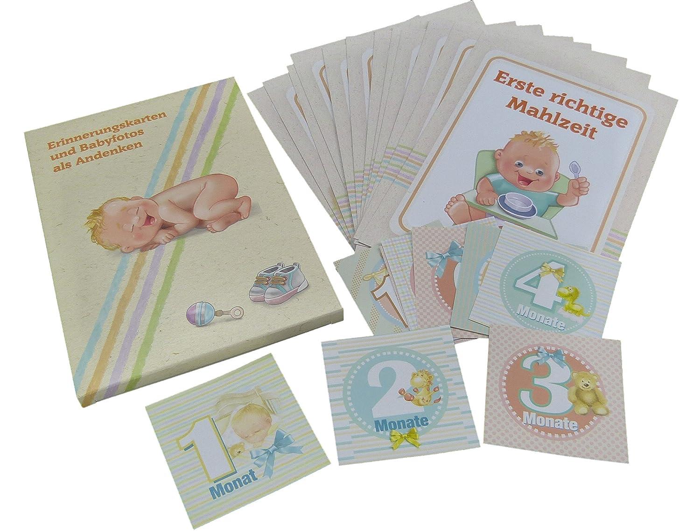 Babykarten Meilensteine deutsch als Set. Baby-Entwicklung-Karten (A5 ...