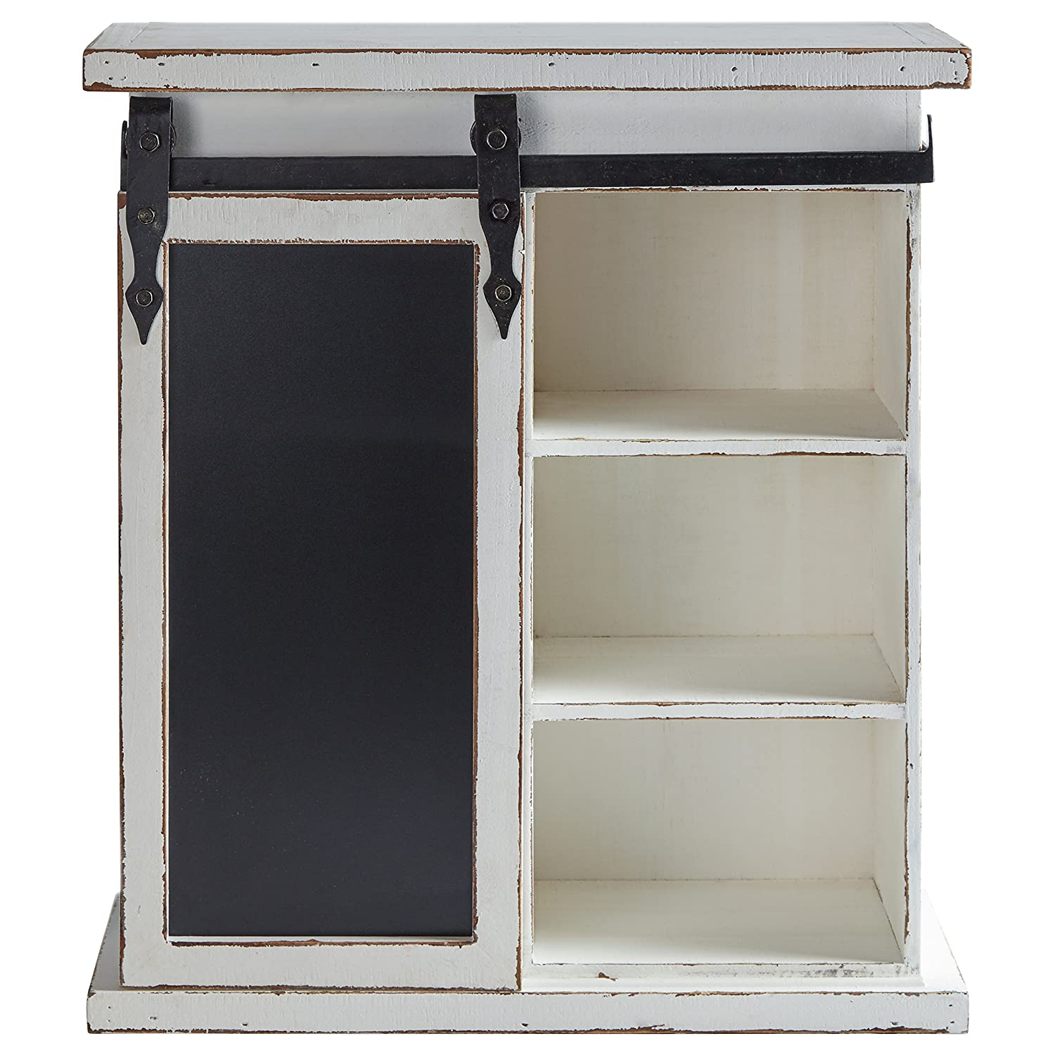 Stone & Beam Vintage Wood Cabinet with Chalkboard, 23.75