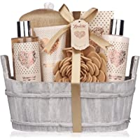 Spa Gift Basket – Bath and Body Set with Vanilla Fragrance by Lovestee - Bath Gift Basket Includes Shower Gel, Body…