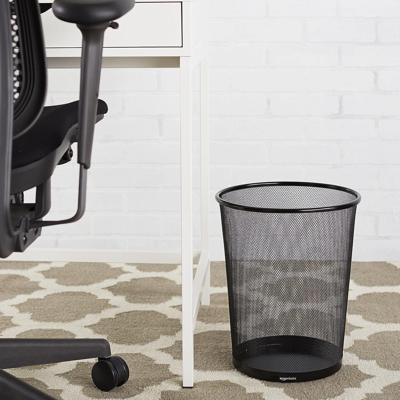 Amazon.com : AmazonBasics Mesh Wastebasket, Black, 6-Pack : Office ...