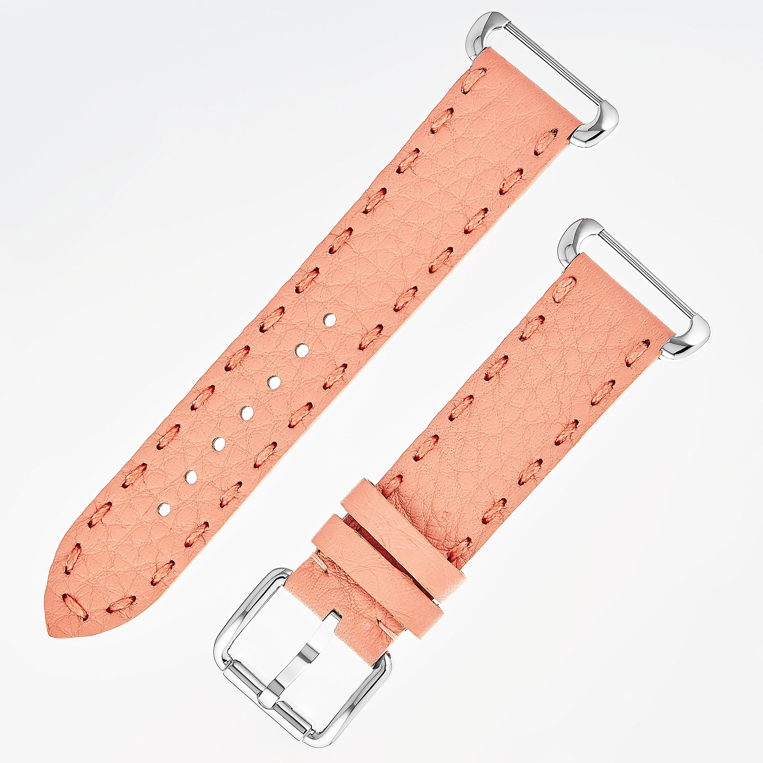 Fendi Selleria Interchangeable Replacement Watch Band - 18mm Peach Calfskin Leather Strap with Pin Buckle SSN18RD7S