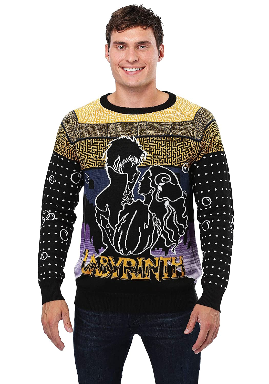 FunComInc Labyrinth Movie Logo Ugly Christmas Sweater X-Large