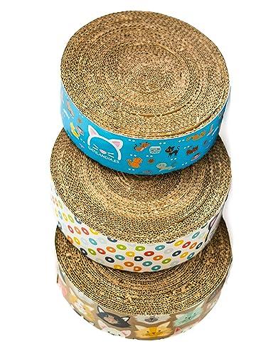 Rascador redondo de cartón para gatos artesanal: Amazon.es: Handmade