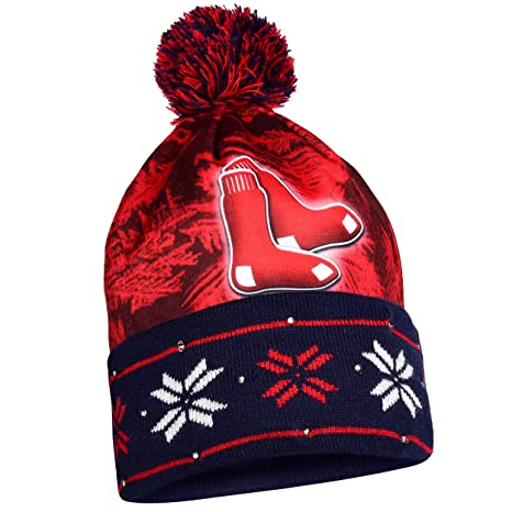 44170f82312 Image Unavailable. Image not available for. Color  MLB Boston Red Sox Light  Up Knit Hat