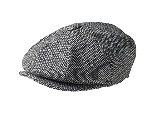 b9316ff443a59 Peaky Blinders 8 Piece  Newsboy  Style Flat Cap -100% Wool Fabric Variations