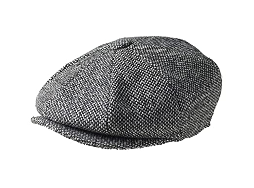 Peaky Blinders Men s 8 Piece  Newsboy  Style Flat Cap Wool at Amazon ... fadb799f08d