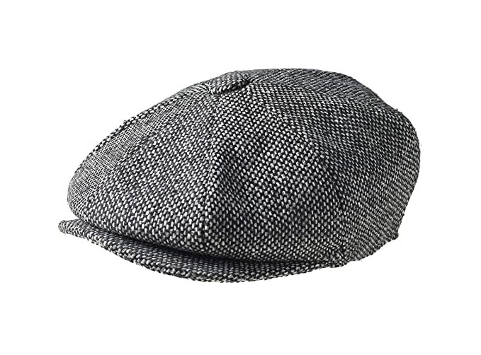41089acee Peaky Blinders 8 Piece 'Newsboy' Style Flat Cap -100% Wool Fabric Variations
