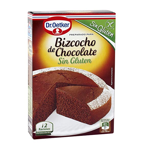 Bizcocho de Chocolate Sin Gluten Dr. Oetker