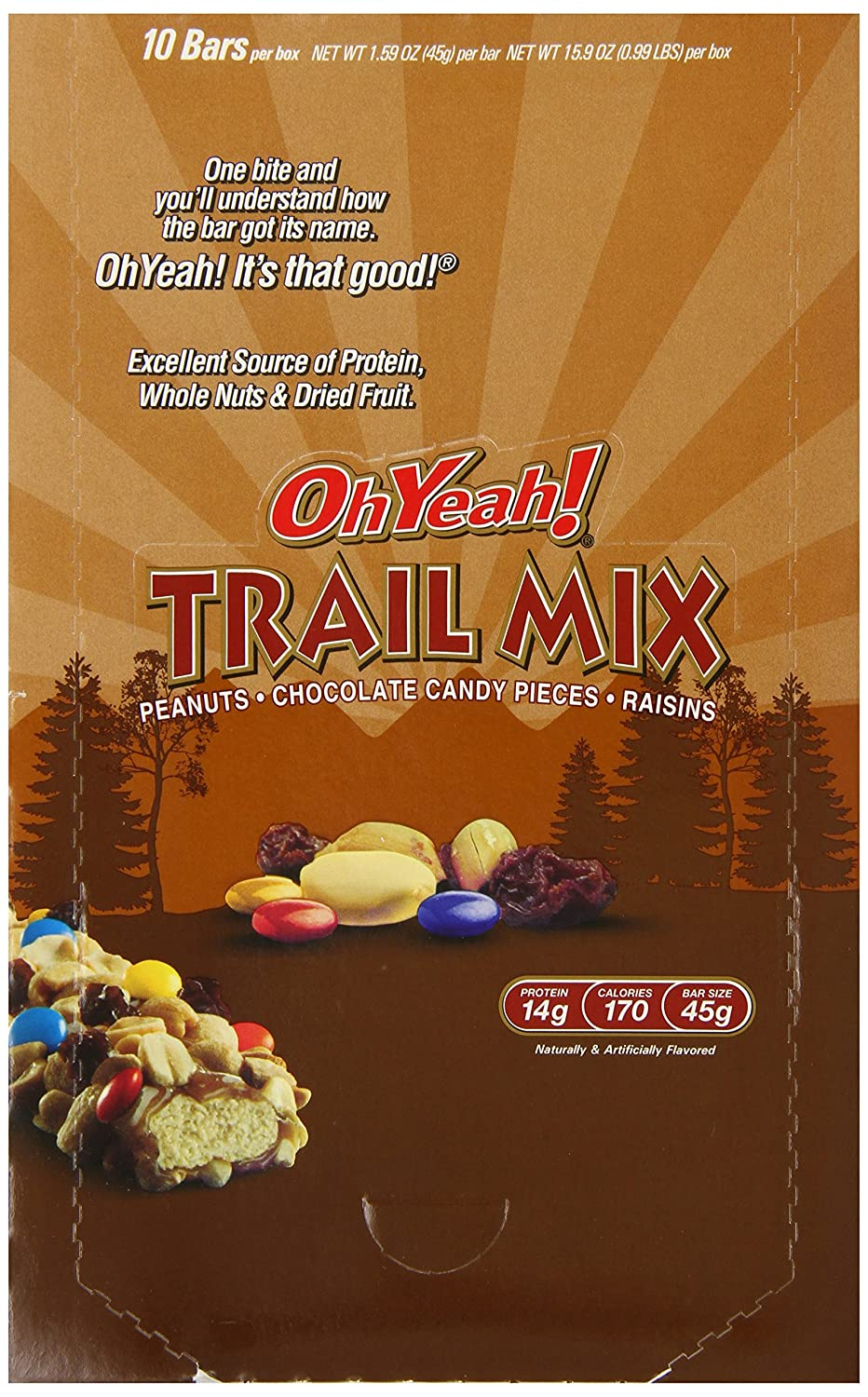 Amazon.com: OH YEAH 45g BAR TRAIL MIX 10/B (Pack of 6): Health & Personal Care