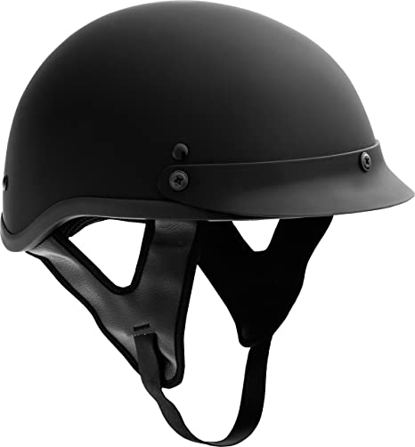 Fuel Helmets SH-HHFL65 HH Series Half Helmet, Flat Black, Medium