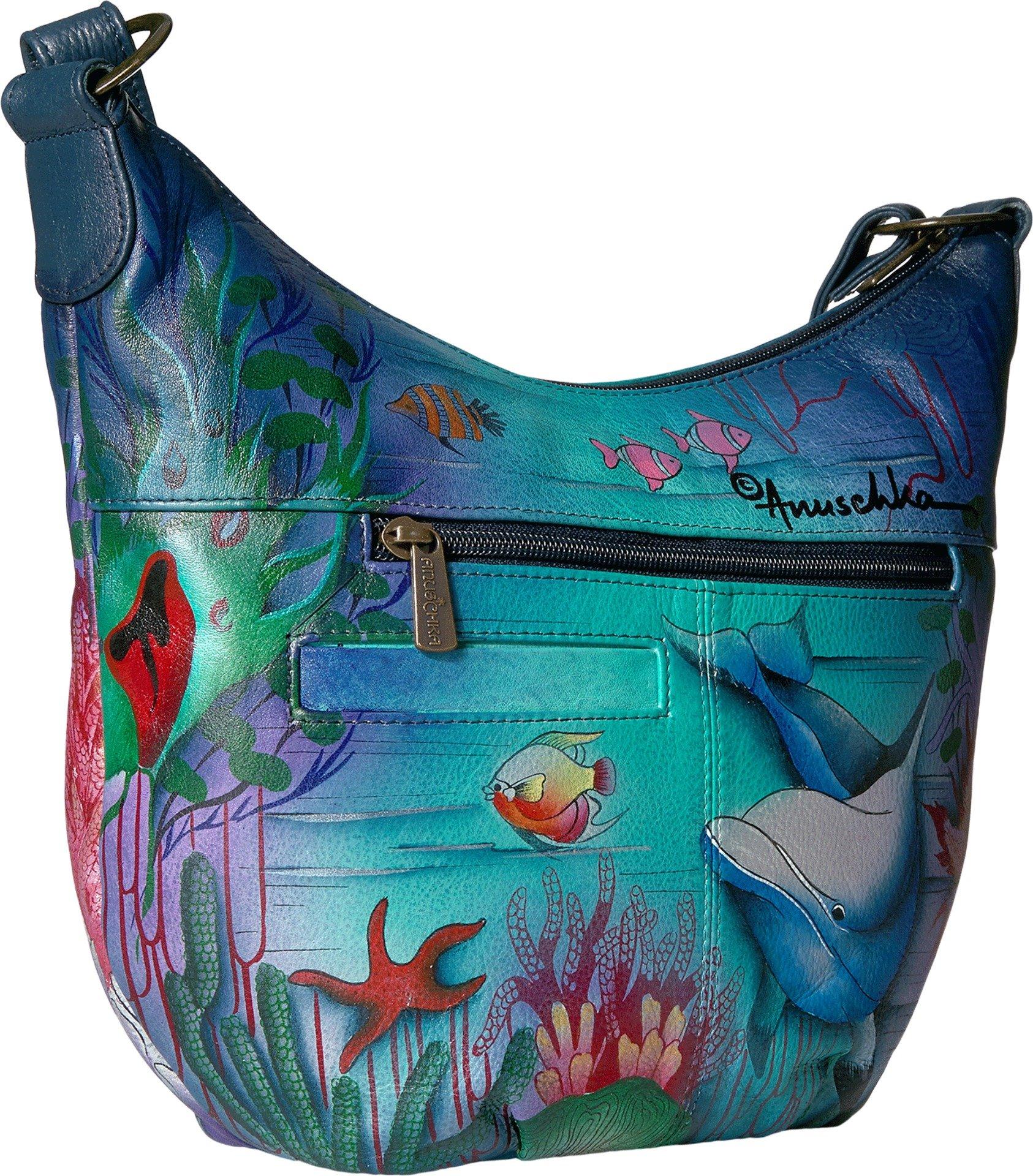 Anuschka Medium Bucket Hobodolphin World, Dolphin World by ANUSCHKA (Image #2)