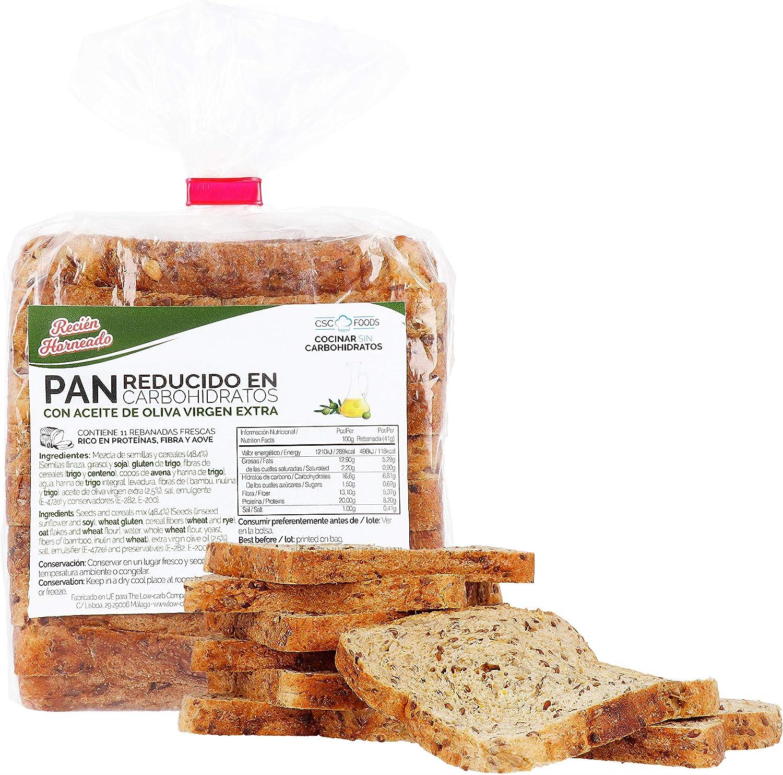 Pan proteico bajo en carbohidratos CSC Foods 450g: Amazon.es ...
