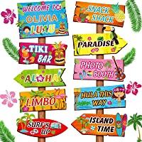 20 Señales de Bienvenida de Fiesta de Luau Aloha, Decoraciones de Fiesta Temática de Verano Tropical Hawaiano Cartel…