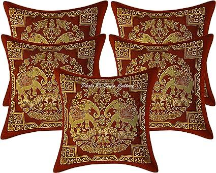 Stylo Culture Tradicional Seda de Brocado Elefante Sofá ...