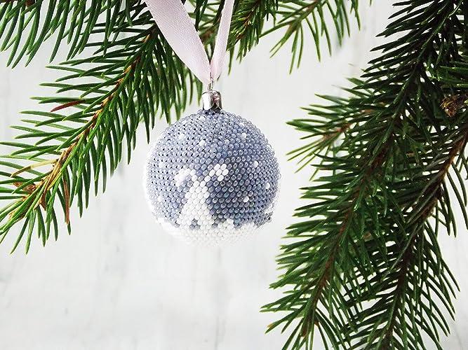 Amazon Com Handmade Christmas Rabbit Ornaments White Gray