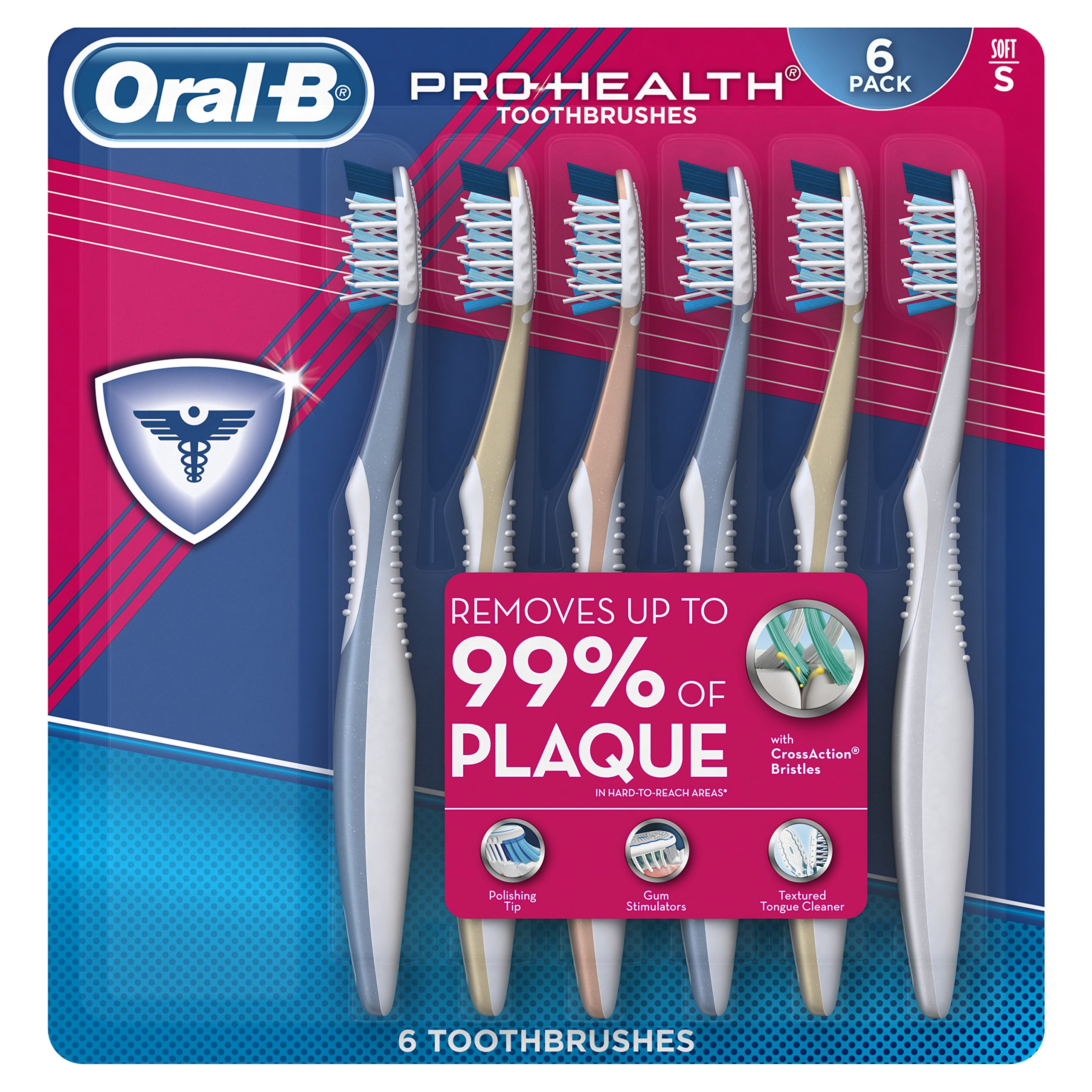 Oral-B Pro Health All In One Soft Toothbrushes, 6 Count by Oral-B