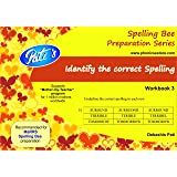 Identify the correct Spelling workbook 3 : Prepare for MaRRS Spelling Bee -Category 1 and Category 2 across levels / rounds