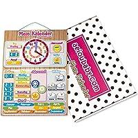 aeioubaby.com Calendario Reloj Magnético Infantil, Juego Educativo Fecha